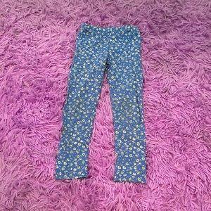 OshKosh B'gosh Baby Girl Blue Floral Leggings 5T